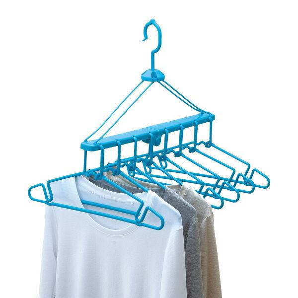 折りたたみ 8連ハンガー 洗濯ハンガー