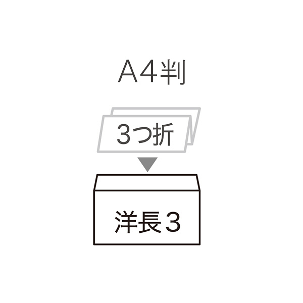 今村紙工 透けない窓付き封筒 水のり付 長3横型 白ケント MD-05 200枚(20枚×10袋)