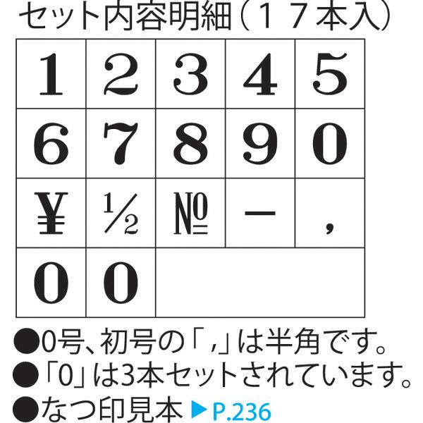 シャチハタ 柄付ゴム印 連結式 数字 4号 ゴシック体 GRN-4G (取寄品)