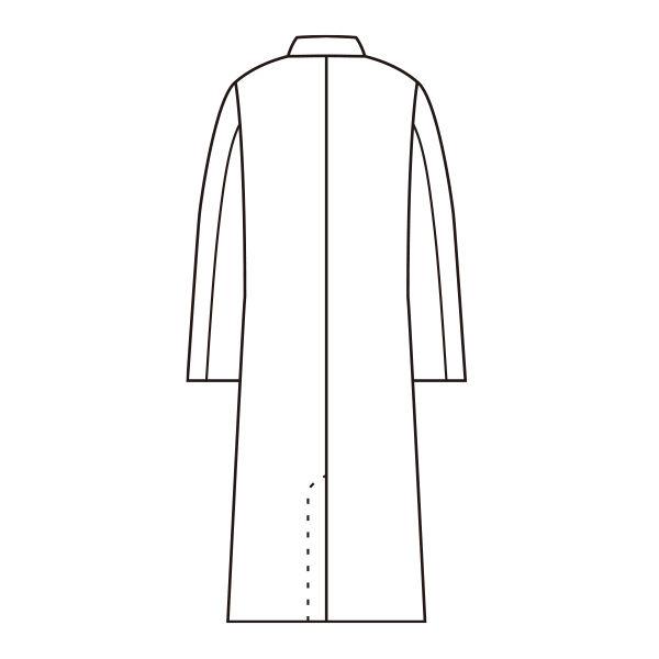 住商モンブラン メンズ診察衣(ドクターコート) 長袖 ホワイト シングル M A71-801(直送品)