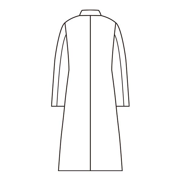 レディス診察衣(ドクターコート) ダブル A71-111 ホワイト M
