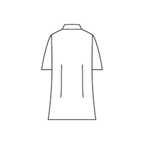 住商モンブラン レディス医務衣(ケーシージャケット) 半袖 ホワイト LL A72-362
