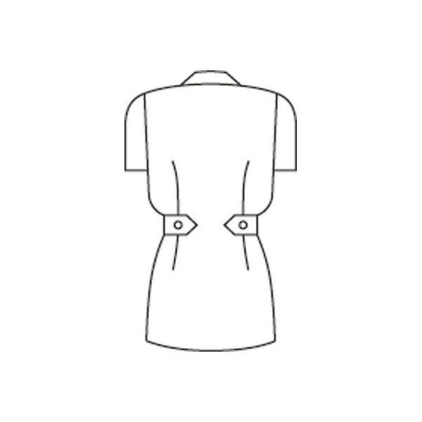 住商モンブラン レディスジャケット(ナースジャケット) 半袖 白/ピンク LL A73-1422