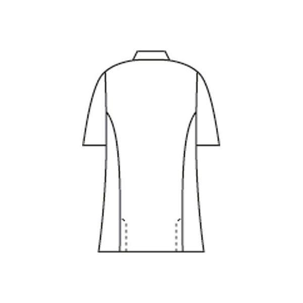 住商モンブラン メンズ医務衣(ケーシージャケット) 半袖 ホワイト 3L A72-962
