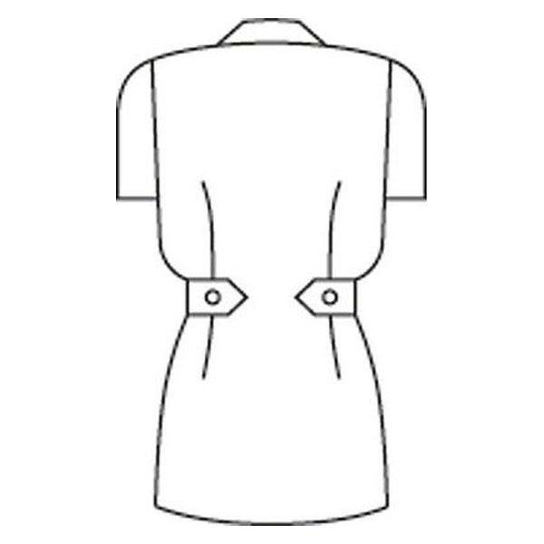 住商モンブラン レディスジャケット(ナースジャケット) 半袖 白/ピンク M A73-1422