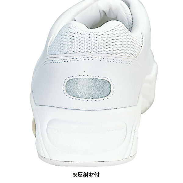 KAZEN スニーカー(エア・ヒモタイプ) ナースシューズ 23.0cm ホワイト MX135 1足(直送品)