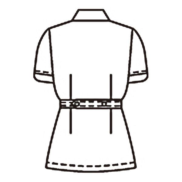 KAZEN レディスジャケット半袖 (ナースジャケット) 医療白衣 パステルピンク L 936-97(直送品)