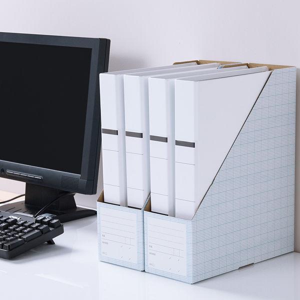 ボックスファイル A4縦 ブルー 10個