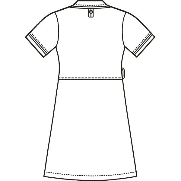 AITOZ(アイトス) アシンメトリーカラーワンピース ナースワンピース 医療白衣 半袖 ネイビー×ホワイト M 861114
