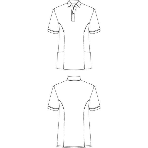 AITOZ(アイトス) サイドポケット半袖ポロシャツ 介護ユニフォーム 男女兼用 ピンク M AZ7668-160