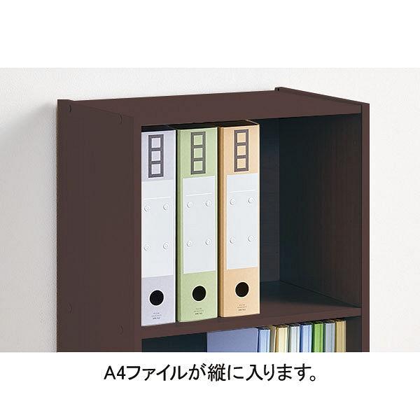 アイリスオーヤマ カラーボックス(CBボックス) 3段 ブラウンオーク A4ファイル対応 CX-3F(264883) 1台