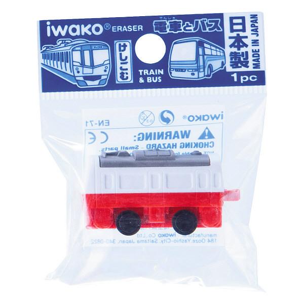 イワコー おもしろ消しゴム 電車とバスの消しゴム ERDEN0011 1箱(60個入)