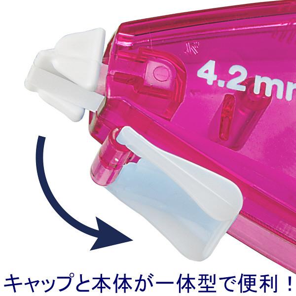 修正テープ 4.2mm幅×8m ピンク