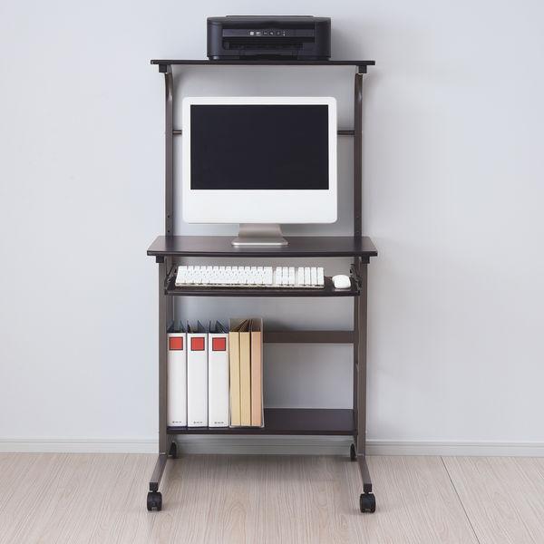 YAMAZEN(山善) パソコンデスク ブラウン EAT-70H(DBR/BR) 1台