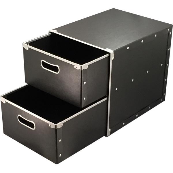 スマイル パルプボード引出し収納ボックス L 2段 1個