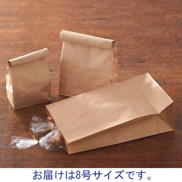 角底紙袋 茶 8号 600枚