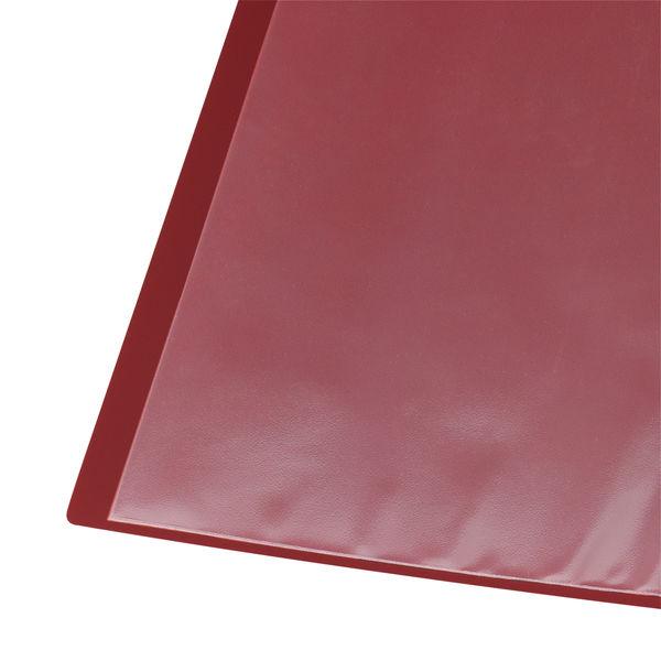 クリアファイル A4縦10P 赤 10冊