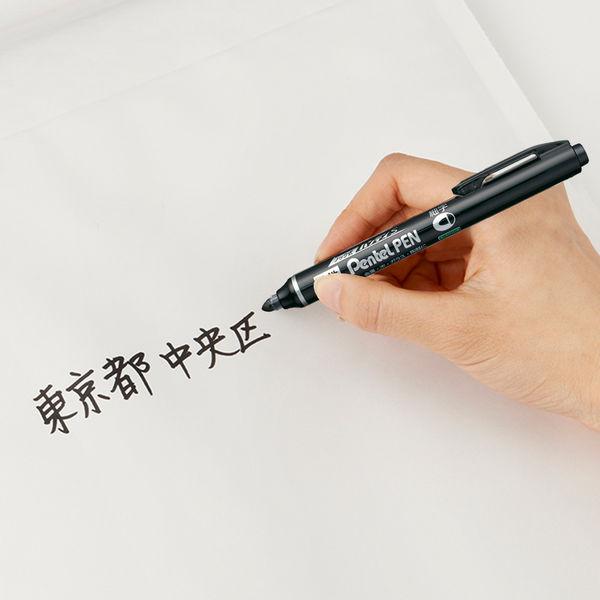 ノック式油性ペン ハンディS細字黒10本