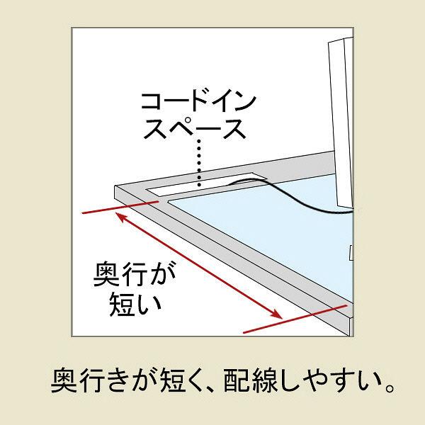 プラス ななめカットデスクマット OAタイプ 中(1190×590mm) 厚さ1.7mm 下敷きなし