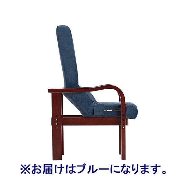 フランスベッド 円背サポートチェアENN ブルー ENNー02 BRーBL 35505000 1脚 (取寄品)
