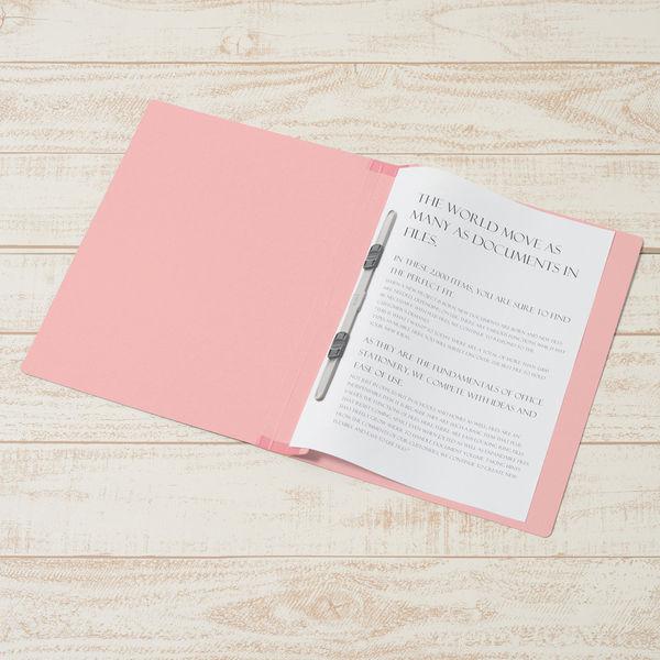 フラットファイル背補強 桃A4縦100冊