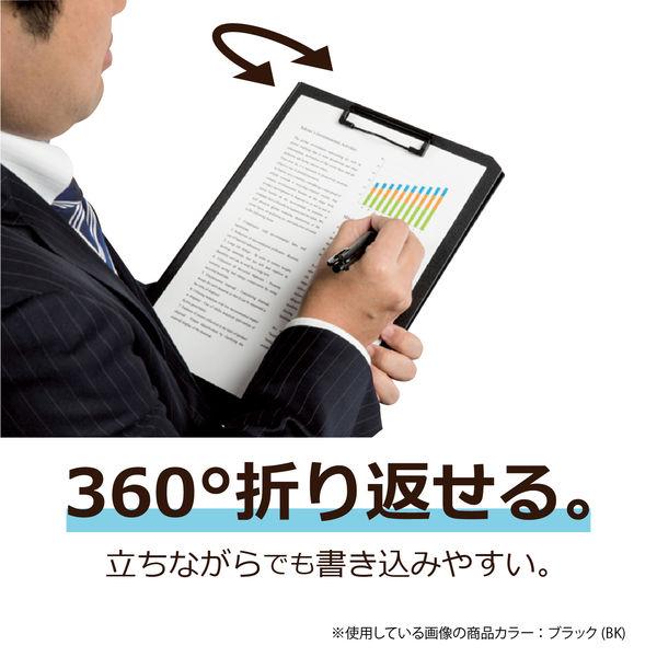 セキセイ コミックス クリップファイル A4タテ ネイビー 1箱(10冊入)