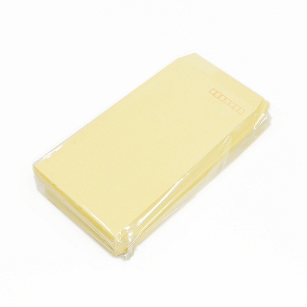 ハート 透けない封筒 カラー テープ付 長3〒枠あり クリーム XEP273 1000枚