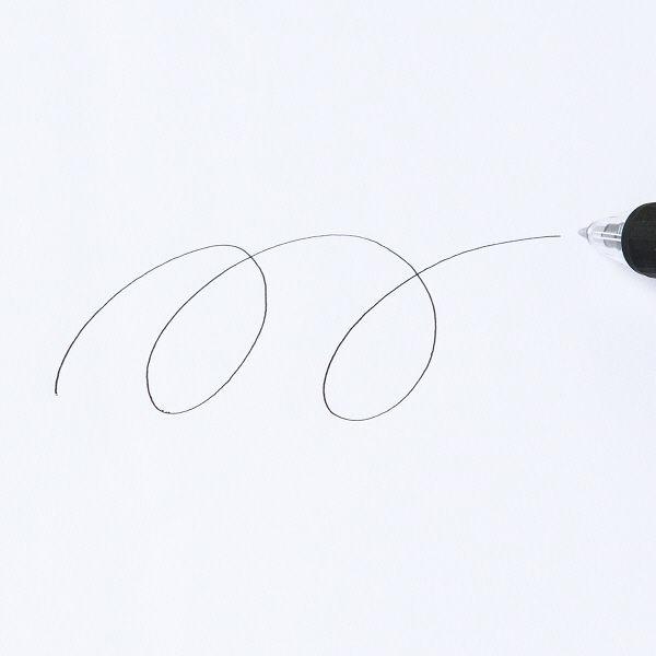 なめらかボールペン0.5mm 黒 10本