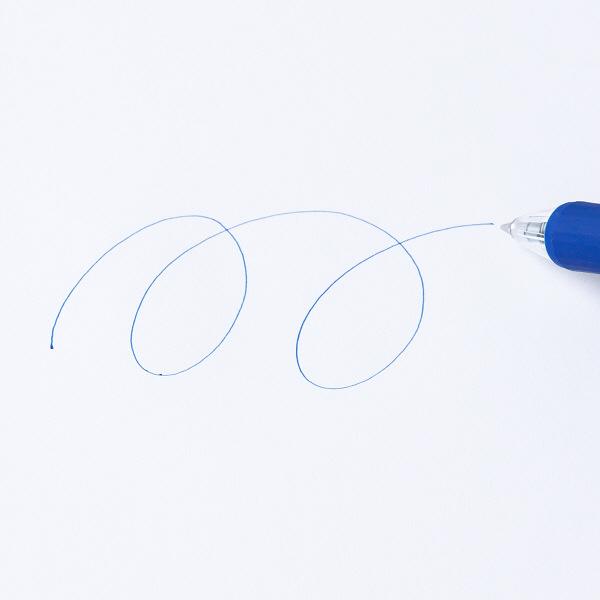 なめらかボールペン0.5mm 青 10本