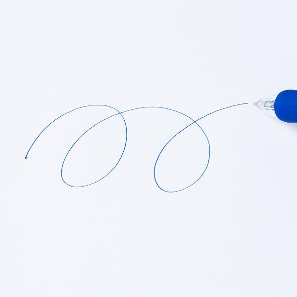 なめらかボールペン0.7mm 青 10本
