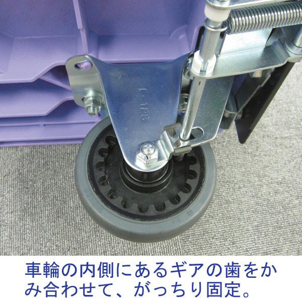 ナンシン 樹脂運搬車(サイレントマスター)プッシュブレーキ付 300kg荷重 NDSK-301B2