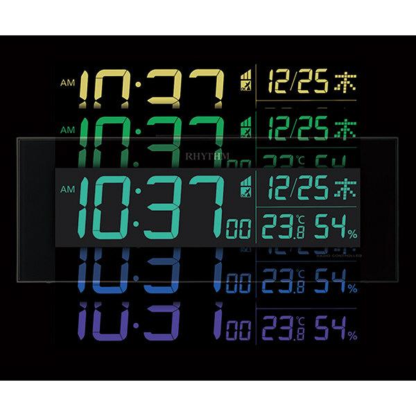デジタル電波掛け置き時計 Iroria