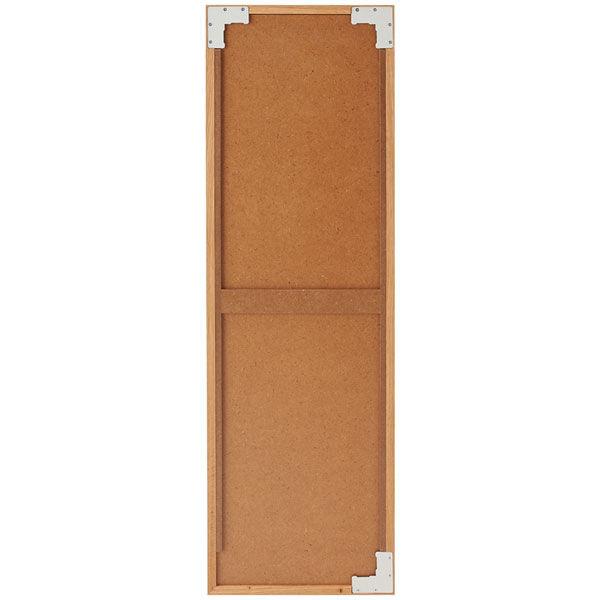 壁に付けられる家具・ミラー・中・オーク材