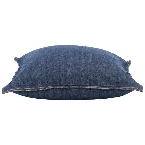綿デニムクッションカバー/ブルー