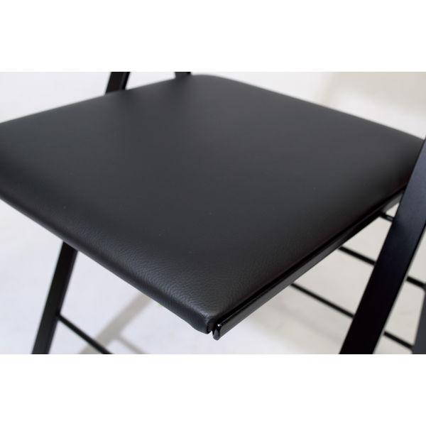 AREA DECLIC ポケットクッション ミーティングチェア ブラック POCC-BK 1セット(2脚) (取寄品)