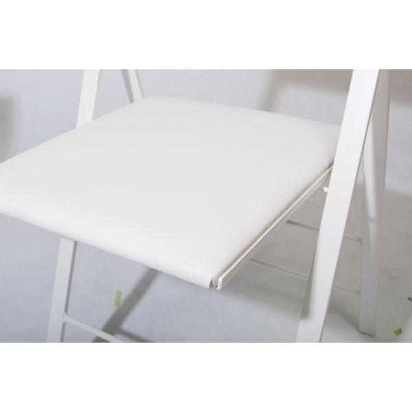 AREA DECLIC ポケットクッション ミーティングチェア ホワイト POCC-WH 1セット(2脚) (取寄品)