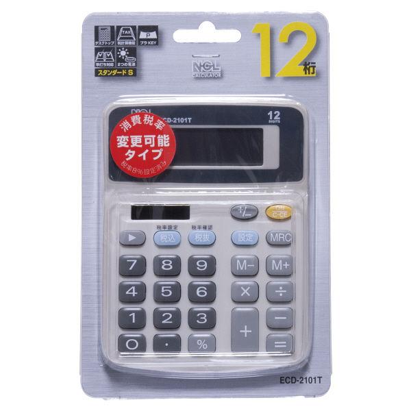 ナカバヤシ 電卓デスクトップタイプスタンダードS ECD-2101T 1個