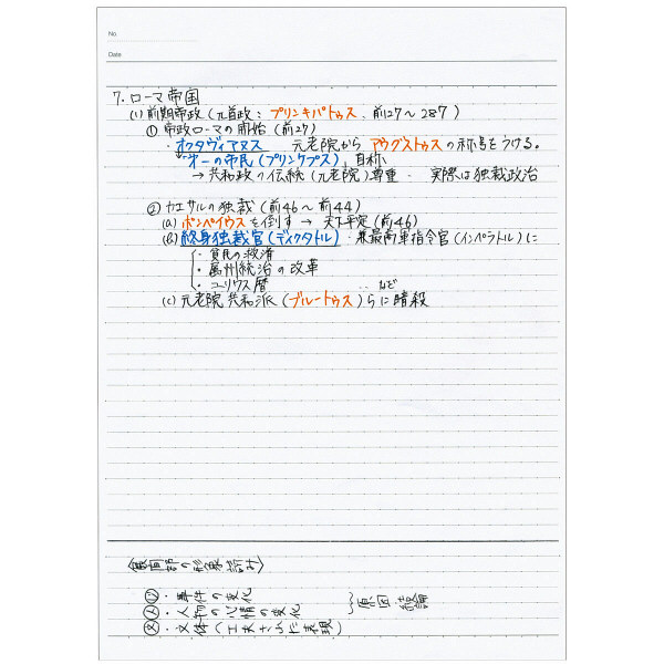 キャンパスノート セミB5ドットB罫 青