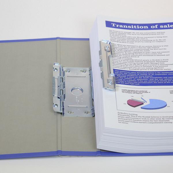 キングファイル スーパードッチ A4タテ とじ厚80mm グレー キングジム 両開きパイプファイル 1478