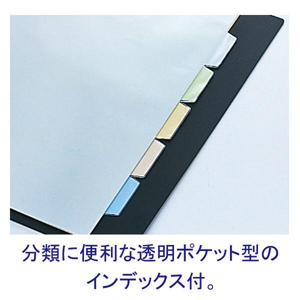 キングジム クリアファイル 差し替え式 5冊 A4タテ背幅49mm カラーベース 赤 139-3