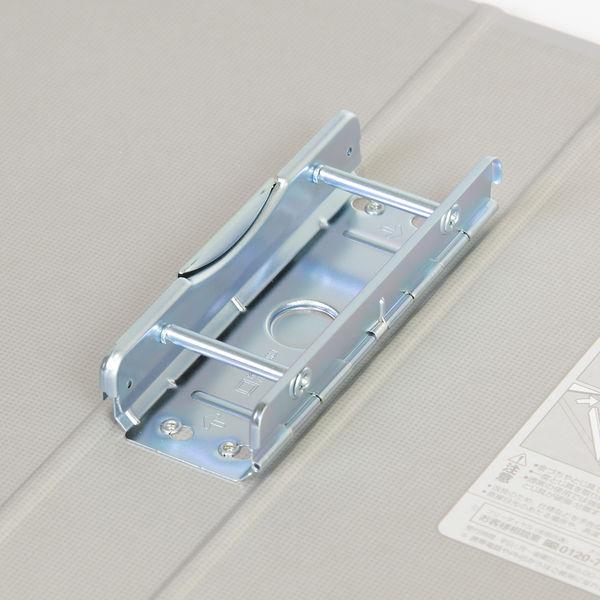 キングファイルG A4タテ とじ厚40mm背幅56mm グレー キングジム 片開きパイプファイル 974N
