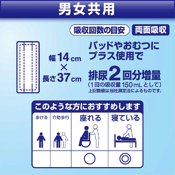 リリーフ 病院施設用 重ねて安心シート 1箱(240枚:30枚×8パック) 業務用 大人用紙おむつ 花王