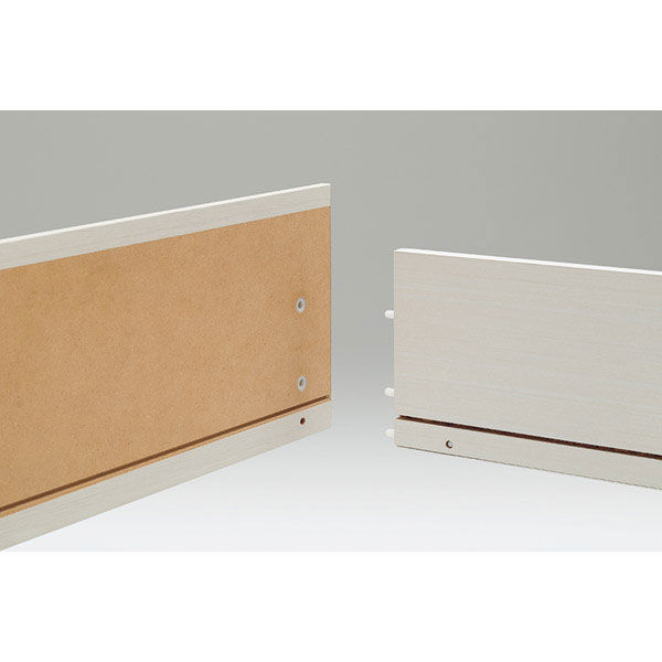 白井産業 組立簡単チェスト ホワイト 高さ112cm 幅90cm (直送品)