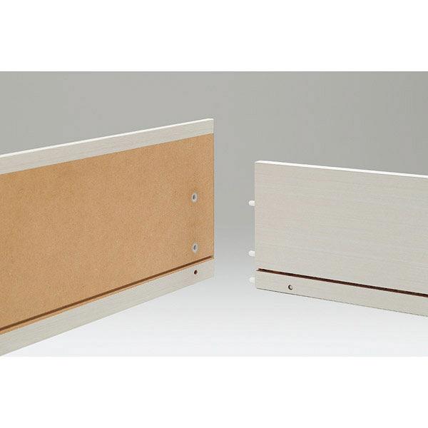 白井産業 組立簡単チェスト ブラウン 高さ133cm 幅28cm (直送品)