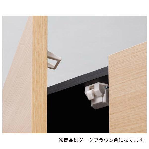 白井産業 壁面収納キャビネット Dタイプ 幅600mm ブラウン (直送品)