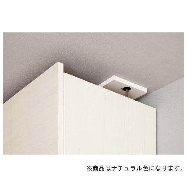 白井産業 壁面収納キャビネット専用上置き棚 幅600mm ナチュラル (直送品)