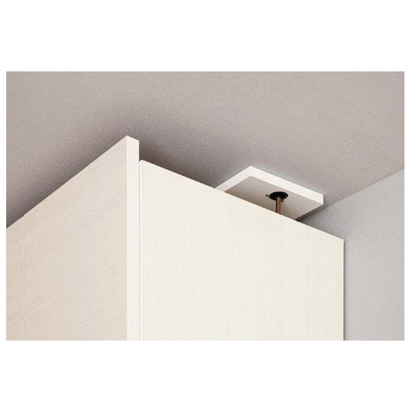 白井産業 壁面収納キャビネット専用上置き棚 幅600mm ホワイト (直送品)