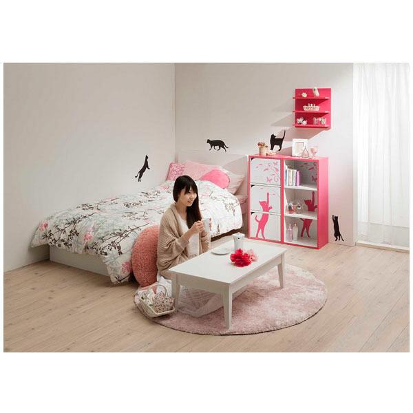 収納ボックス(猫柄) ピンク