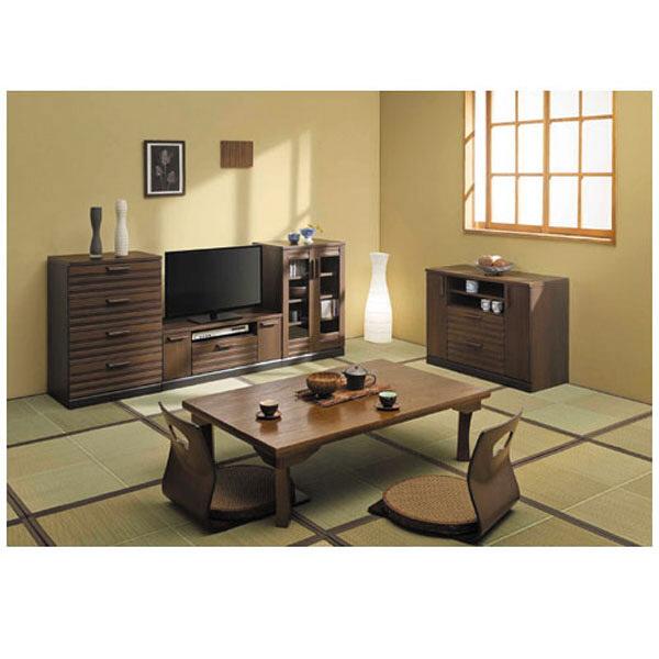 白井産業 横格子風の和家具 ハイタイプテレビ台(32V対応) (直送品)