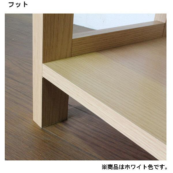 白井産業 木製オープンラック3段 幅882mm ホワイト (直送品)